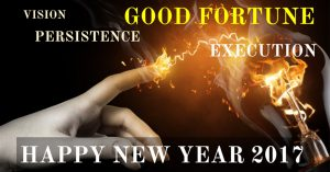 Happy New Year — Vision, Persistence, Execution, Good Fortune